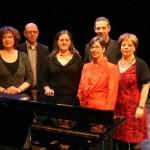 Imelda Hack (piano), Erik Stevens, judith van der Ree, Eline Delis, Karel Sieben en Mirjam Roovers