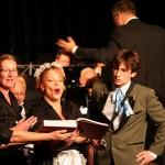 Hilma Haandrikman, Judith de Ree, Mirjam Roovers, Marcel Schouten en Lennaert van Anken in het Quintet uit de Zauberflöte